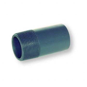"0.5"" Grey PVC Barrel Nipple"
